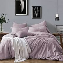 KING CAl KING All Natural luxurious Prewashed Cotton Duvet Cover Set lavender