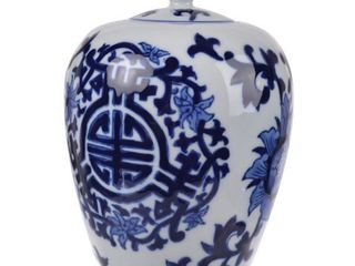 A B Home Meera Blue and White lidded Jar Classic Vintage Blue