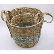 Hand Woven Seagrass Baskets  Multi C