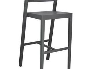 1960 Solid Wood Counter Stool Grey