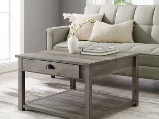 Walker Edison AF30CYSQCTGW 30 in  Square Country Coffee Table 44  Grey Wash