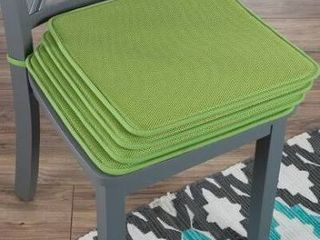 Indoor  Outdoor Dining Chair Cushion Green Set of 4