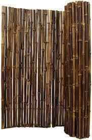 Black Bamboo Panel Fence for Backyard and Garden 3 ft  H x 8 ft  l x 1 in  D Retail 115 99