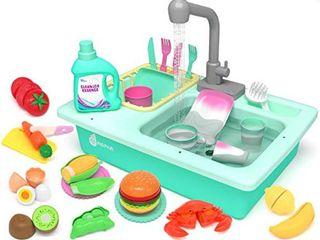 Kidpar 38 PCs color changing kitchen play sink