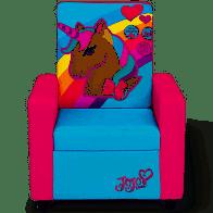 Delta Children Nickelodeon JoJo Siwa High Back Upholstered Chair in Pink