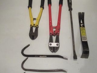 Bolt Cutters  Pry Bars   Coupe boulons  leviers