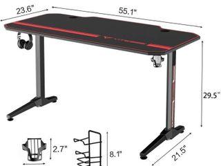 Vitesse 55 inch Gaming Desk T Shaped Computer Desk