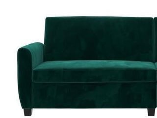 Noah Sectional Sofa Bed Only  Twin  Green Velvet