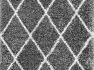nulOOM Diamond Soft   Plush Shag Area Rug  4  x
