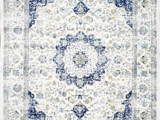 nulOOM RZBD07A 2 8 x8  Traditional Area Rug  Blue