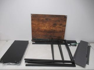 As Is  40  Office Desk with Two Non Woven