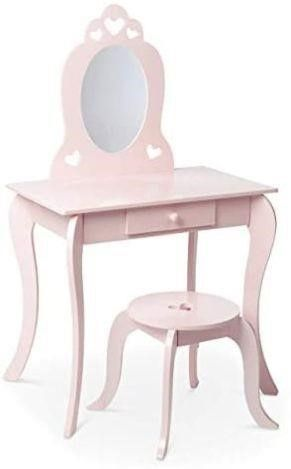 Milliard Kids Vanity Makeup Table and Chair Set