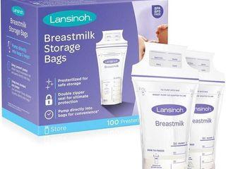 100Pc lansinoh Breastmilk Storage Bags