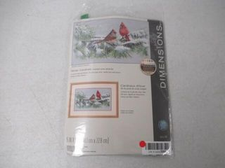 Dimensions  Winter Cardinals  Counted Cross Stitch
