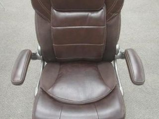As Is  Commercial Ergonomic High Back leather