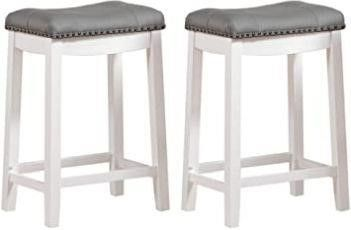 2  Angel line Cambridge bar stools  24  White