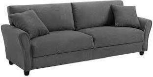 TribeSigns Upholstered 85 inch Sofa Modern linen