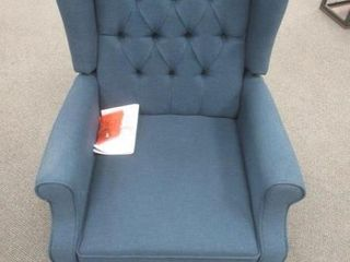 As Is  Val   Manual Recliner  Navy Blue