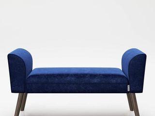 PlAYBOY  Tiffany  Blue Velvet Bench Wooden Stable