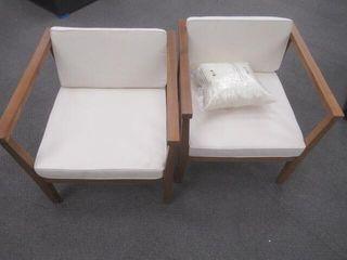 As Is   2  Adalhard Teak Patio Chair