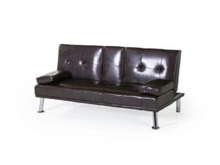 BEl Furniture Mollai Collection leather PU Futon
