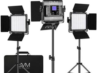 GVM RGB lED Video lighting Kit  800D Studio Video