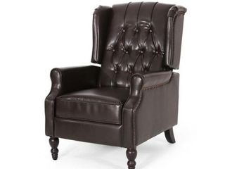 Noble House Furnishings Contemporary Brown leather