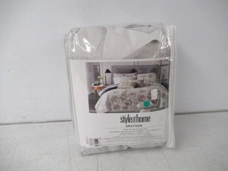 Used  Style at Home Grayson Cotton Duvet Cover