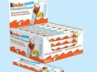 Kinder Chocolate Single Bars  36 Count