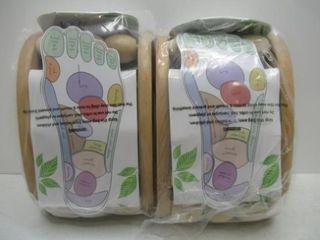 2  Spa Pleasures Wooden Ball Foot Massager