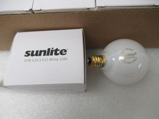 As Is  12Pk Sunlite G16 5 Globe light Bulbs 60