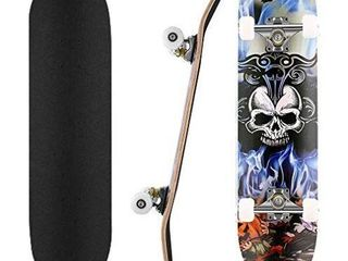 Skateboard  31  x 8  Standard Skate Board with 7