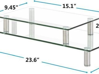 FITUEYES Glass Monitor Stand 1 or 2 Tier Computer