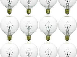 Sunlite 12 Pk G16 5 Globe light Bulbs 40 Watts