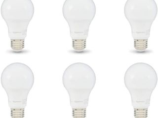 6Pk 60W Equivalent A19 lED light Bulb  Soft White
