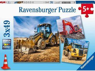 Ravensburger 5032 Diggers at Work 3 x 49 Piece