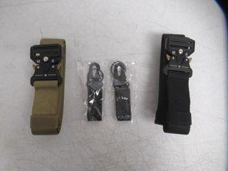 2 Pk BESTKEE Tactical Belt for Men  Heavy Duty