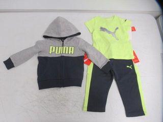 3 PCs PUMA Baby Boy s 12M Hoodie and Tee Set