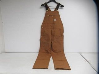 Used  Carhartt Men s 36x34 Relaxed Fit Duck Bib