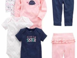 6 PCs Simple Joys by Carter s Baby Girls  3 6M