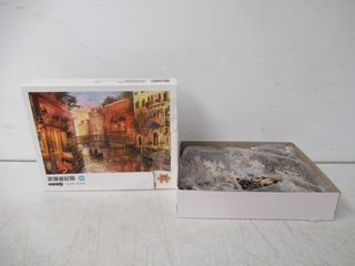 As Is  Venice Puzzle Canal Gondola Boat large