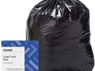 Solimo Drawstring Trash Bags  30 Gallon  50 Count