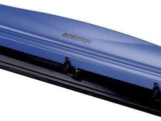 Bostitch 3 Hole Punch  12 Sheets  Navy Blue