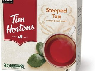 Tim Hortons Steeped Tea  Recyclable Single Serve