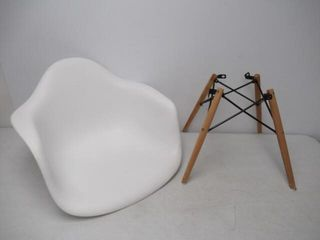 As Is  DHP Mid Century Modern Chair with Wood