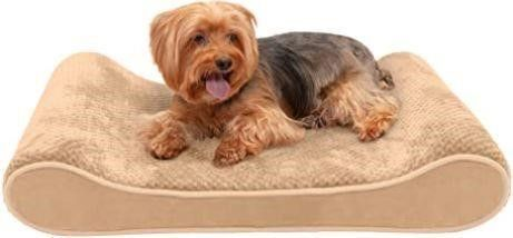 Furhaven Pet Dog Bed   Orthopedic Minky Plush