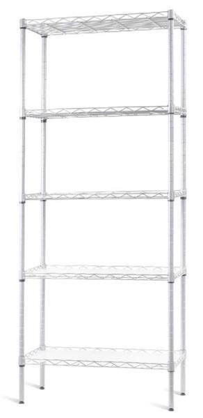 5 Tier Shelving Unit Adjustable Wire Shelves Steel