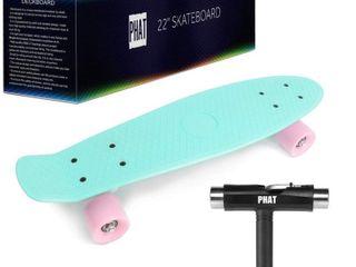 PHAT 22  Complete Plastic Retro Mini Skateboard