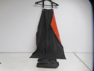lined Plastic Apron With Arm Covers  Black Orange