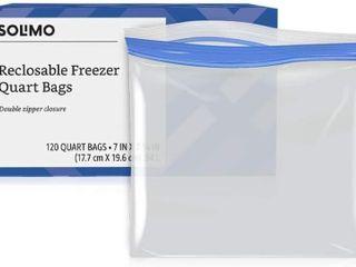 Brand   Solimo Freezer Quart Bags  120 Count